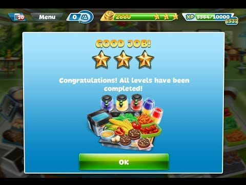 Cooking Fever Vegan Peak Level 40(3 Stars)