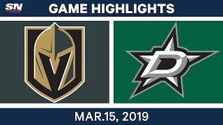 NHL Highlights   Golden Knights vs Stars – Mar 15, 2019
