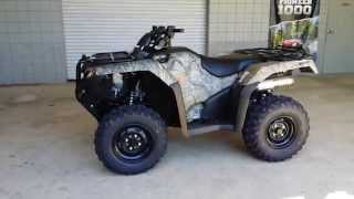 5. 2016 Honda Rancher 420 Camo DCT + IRS + EPS ATV Walk-Around Video | TRX420FA6G FourTrax Four Wheeler