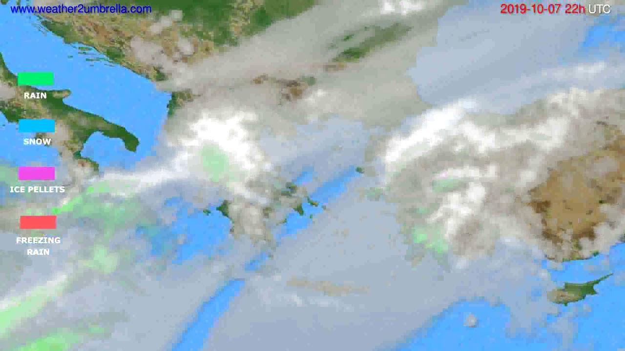 Precipitation forecast Greece // modelrun: 00h UTC 2019-10-05