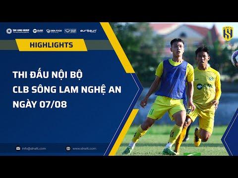 Highlight trận thi đấu nội bộ CLB SLNA ngày 07/08 | HLV Phan Như Thuật 2-1 HLV Phạm Bùi Minh