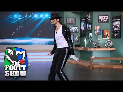 The Secret Moves Behind Michael Jackson's 'moon-walk' | AFL Footy Show 2018