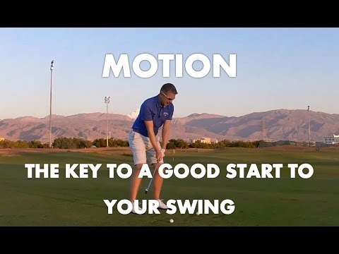 Golf Lesson – Develop Motion In Your Routine