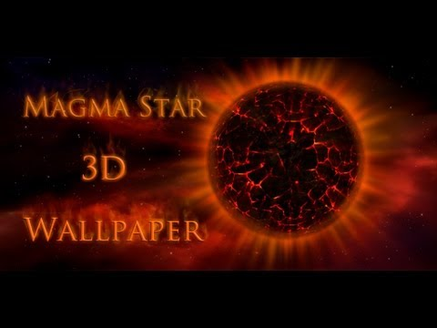 Video of 3D Magma Star Wallpaper
