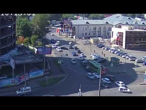 Взлетная - Весны - Аэровокзальная 10.08.2018 ЧП Красноярск - DomaVideo.Ru