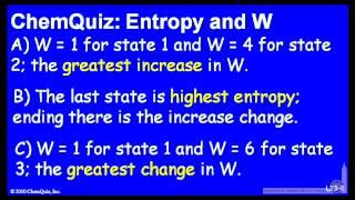 Entropy And W  (Quiz)