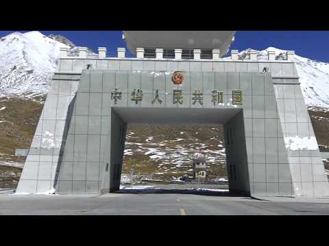The Khunjerab Pass 4700m. Pakistan China Border. A TravelPak Trailer