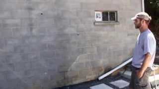 Waterproofing Exterior Wall:  DIY Clear Sealer - Block Foundation Wall - Above Grade Waterproofing