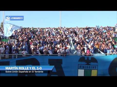 Celebración de la hinchada celeste de los dos goles sobre U. Española - Trinchera Celeste - O'Higgins