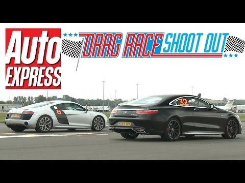 Mercedes - Can the Audi R8 V10 see off the Mercedes S63 AMG Coupe in this drag race shoot-out? See the next episode (Tesla Model S vs TVR Tuscan): http://bit.ly/1u17DYc See the previous episode ...