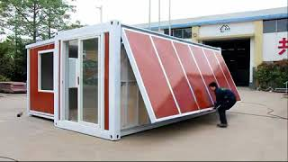 Video China Expandable container house ---10 minutes one house! MP3, 3GP, MP4, WEBM, AVI, FLV September 2018