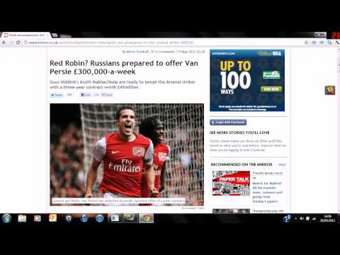 lewi2843 - guys hope you enjoyed this video and if there is anything else about van persie i will make a video about it. could he be leaving the gunners for 45k. we sha...