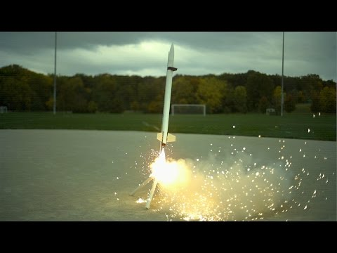 The Slow Mo Guys Rockets Launching in Super Slow