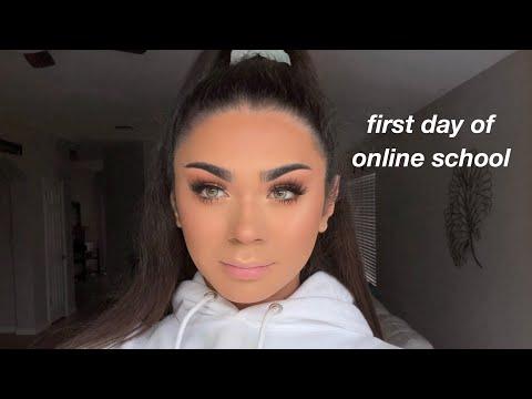 FIRST DAY OF ONLINE SCHOOL vlog/grwm