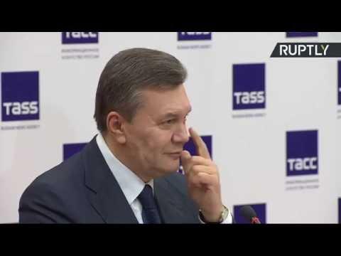 Пресс-конференция Виктора Януковича в связи с обвинениями Киева