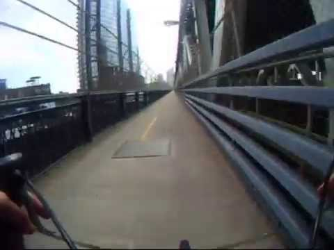 Bike Ride Across the Manhattan Bridge