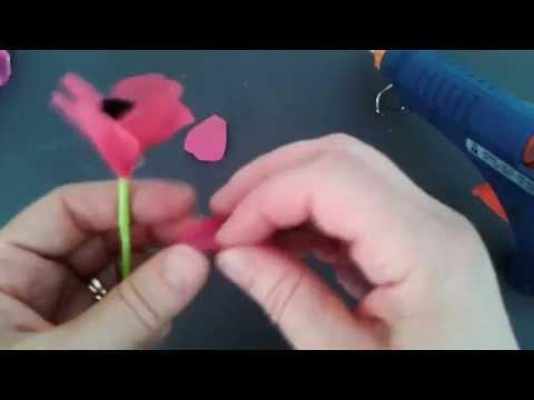 كيف تصنع زهرة من اكياس النايلون (شقائق النعمان)