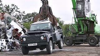 US Customs Crushes Seized Land Rover Defender