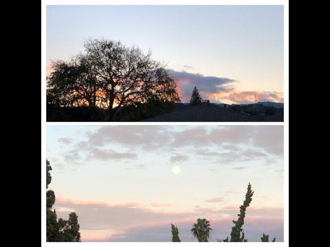 Sunset in the West, Moonrise in the East