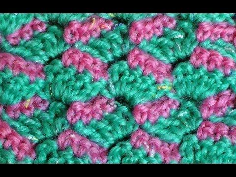 Видео вязание крючком двухцветных узоров