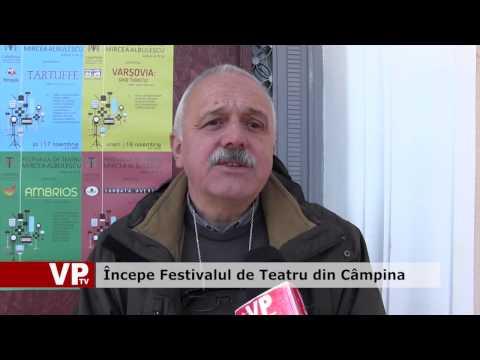 Începe Festivalul de Teatru din Câmpina
