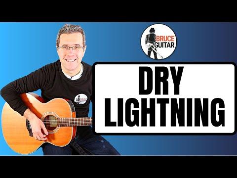 Bruce Springsteen - Dry Lightning guitar lesson