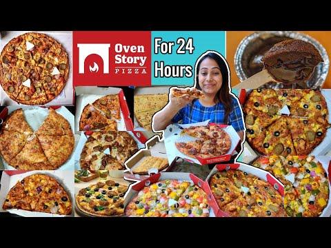 I only ate OVENSTORY PIZZA For 24 Hours  Food challenge  Eating Entire Menu of OvenStory