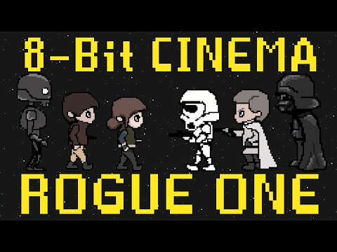Rogue One A Star Wars Story as a Retro 80s Arcade