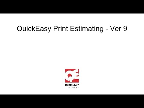 QuickEasy Print Estimating - Ver9