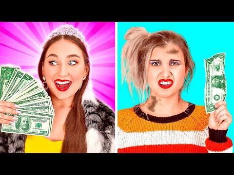 BAD RICH VS GOOD BROKE SCHOOL GIRLS | Millionaire Parents! Poor Girl Pretends Rich by 123 GO! SCHOOL