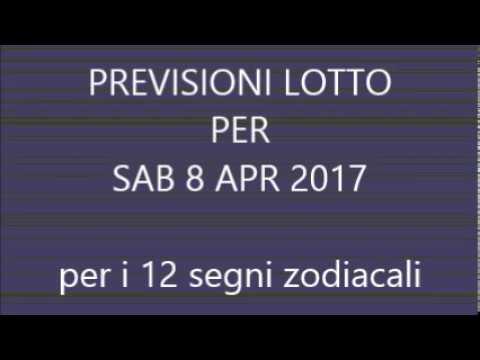 Previsioni per il Lotto ★ Estrazione Sabato 8 Aprile 2017