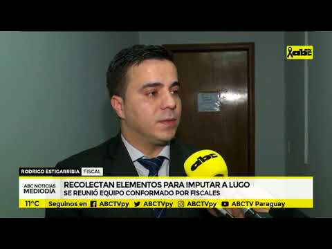 Fiscales recolectan elementos para imputar a Lugo