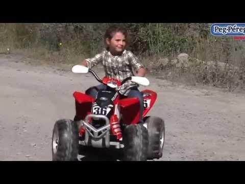 Peg Perego Quad Polaris Outlaw Citrus 12V Video