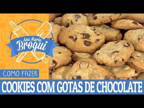 Receitas Doces - COMO FAZER COOKIES COM GOTAS DE CHOCOLATE  Ana Maria Brogui #16