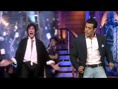 Salman Khan Dances On Amitabh's Jumma Chumma De De