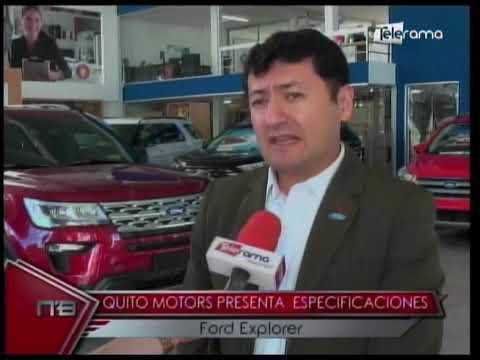 Quito Motors presenta especificaciones Ford Explorer