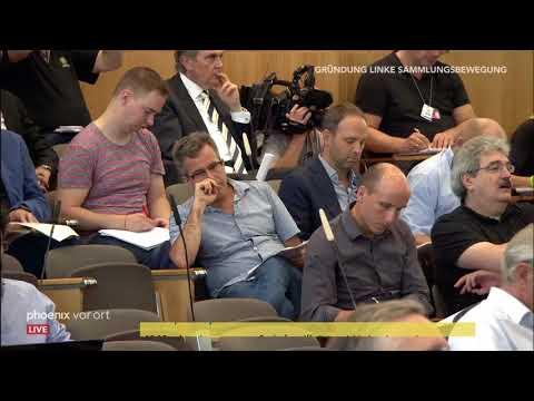 Pressekonferenz zur Gründung der linken Sammlungsbewegu ...