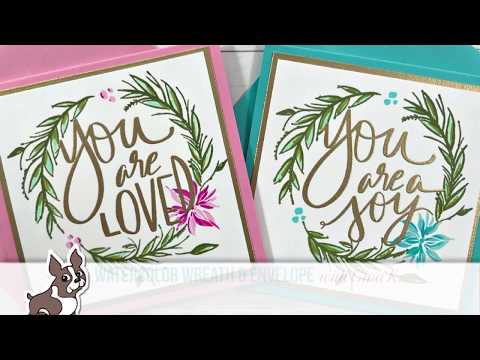 Watercolor Wreath & Envelope with Gina K Designs