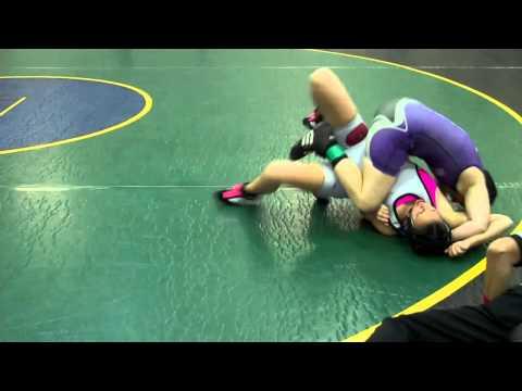 Skylar's Third Pin @ Cypress Creek All Girls Wrestling Tournament 2013 (видео)