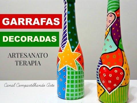 garrafas decoradas estilo R B