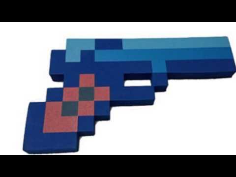 Video YouTube video ad for the 8 Bit Pixelated Blue Diamond Foam Gun