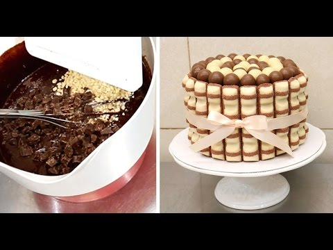 DIY KINDER Brownie CHOCOLATE Cake - How To Make *Torta Kinder