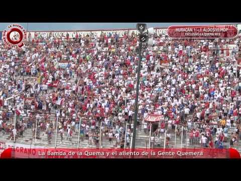 Huracan vs Aldosivi - La Banda y la Gente alentando - www.laquemaweb.com.ar - La Banda de la Quema - Huracán