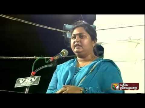 Vaakkala-Perumakkale-Actress-Vindhya-criticises-DMDK-Peoples-Welfare-Alliance