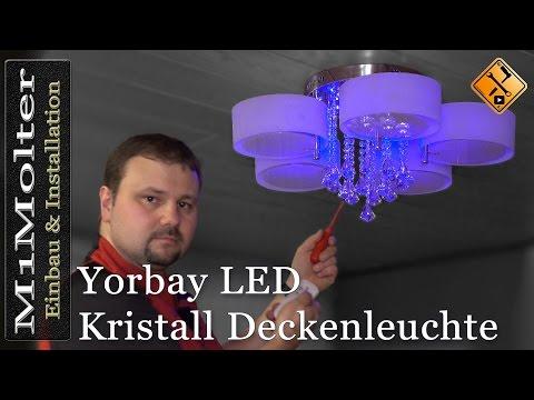 LED Kristall Deckenleuchte - Yorbay / Einbau und Anschluss von M1Molter