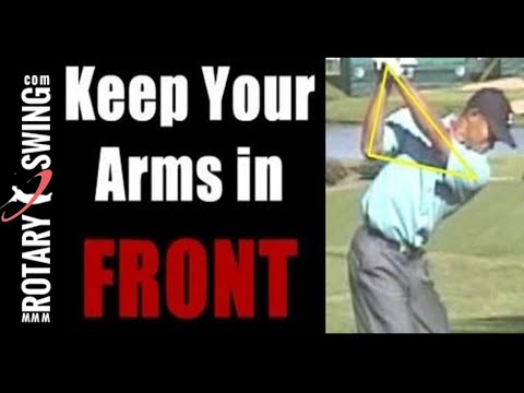 How to keep the hands and arms in front of the body in the Backswing like Tiger Woods