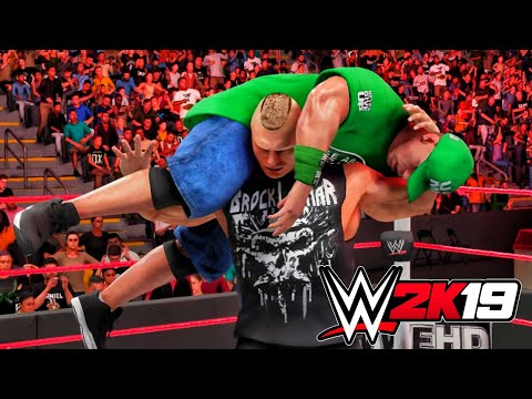 WWE 2K19 - Recreation- Ep.1 - Brock Lesnar returns to WWE: Raw, April 2, 2012