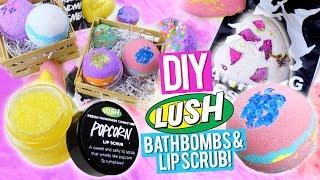 DIY LUSH Bath Bombs & Popcorn Lip Scrub - YouTube