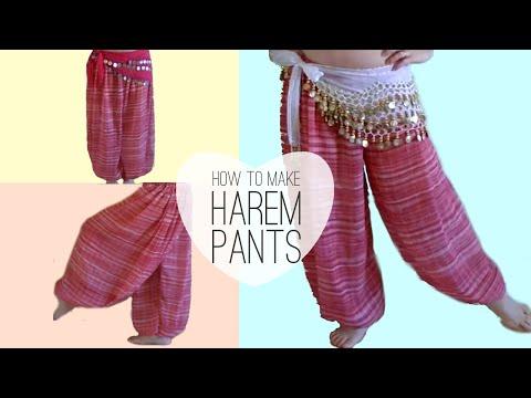 Easy Belly Dancer Harem Pants DIY - Princess Jasmine Style