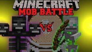 Wither Boss Vs. Skeleton Friend - Minecraft Mob Battles - Arena Battle